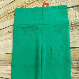 NWT Agnes and Dora Textured Green Pencil Skirt